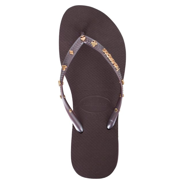 Havaianas Purple Cards Embellished Flip Flop