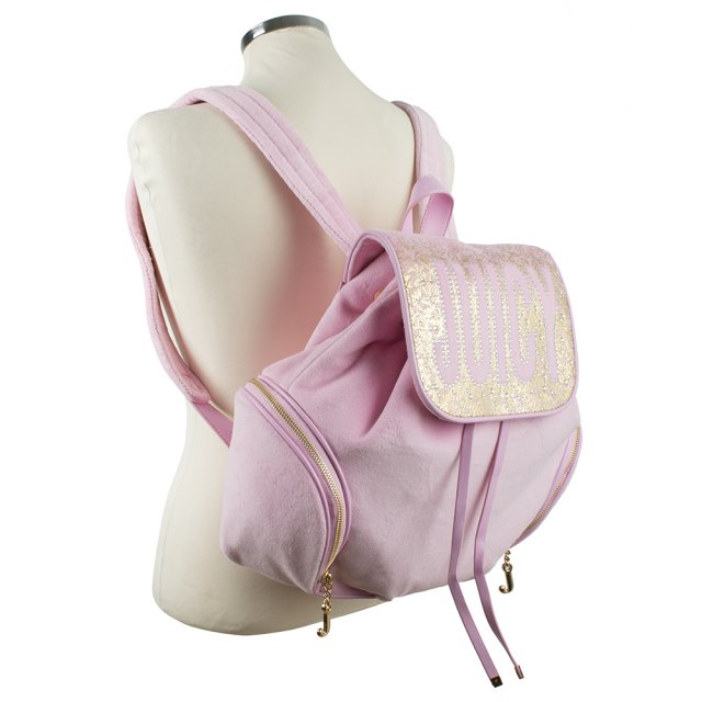 Juicy Couture Pretty Velour Pink Backpack