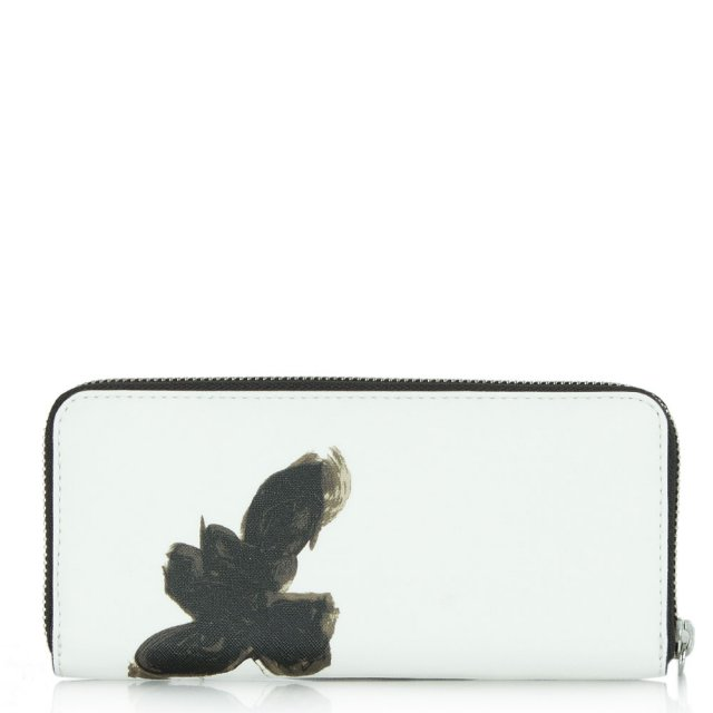 Marc Jacobs Sophisticato Painted Flower Slim Zip Around Wallet