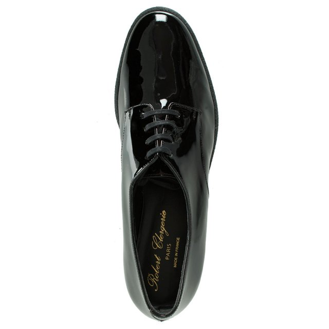 Robert Clergerie Women's Feydo Black Patent Lace Up Shoe