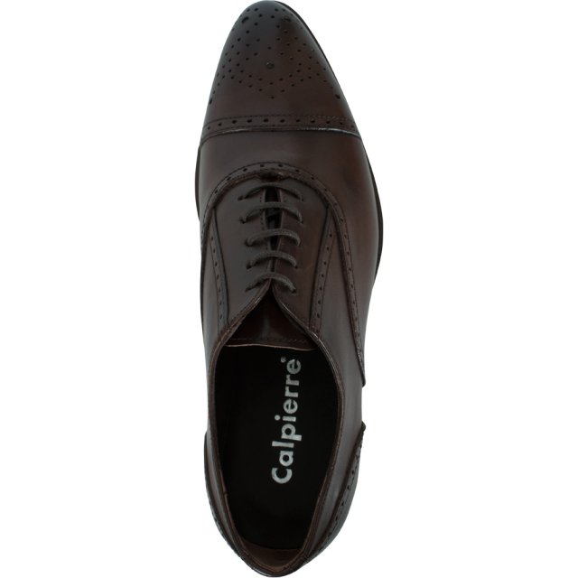 Calpierre Brown Leather Lace up Brogue