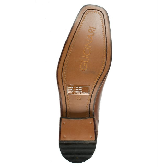 Gucinari Tan Leather Slip On Loafer