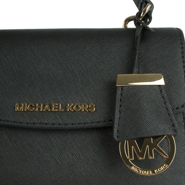 Michael Kors Ava Mini Black Leather Cross-Body Bag