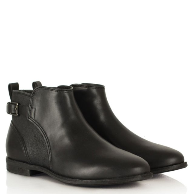 UGG Demi Black Leather Ankle Boot