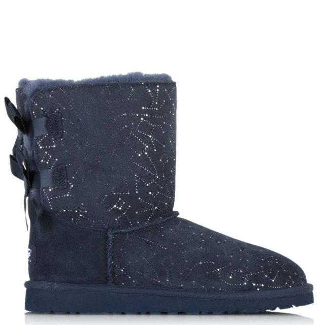 UGG Kid Bailey Bow Constellation Print Navy Classic Boot