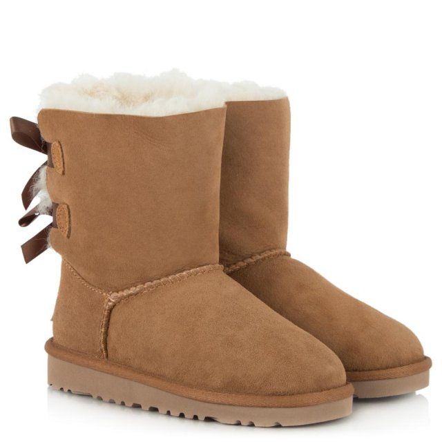 UGG Kids Bailey Bow Chestnut Twinface Boot