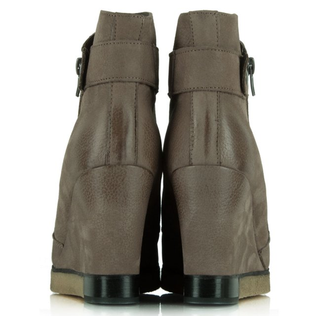 Daniel Adorable Taupe Leather Wedge Ankle Boot