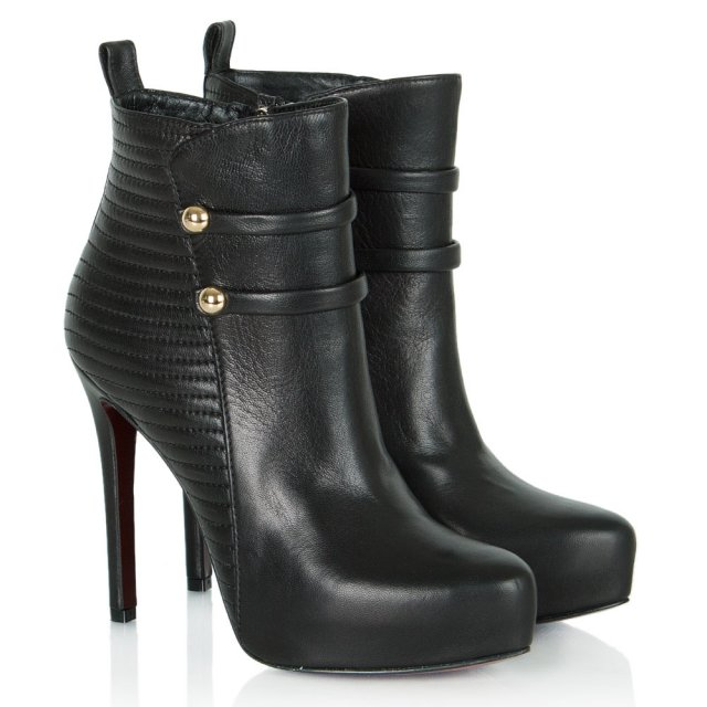 Daniel Merit Black Leather Military Ankle Boot