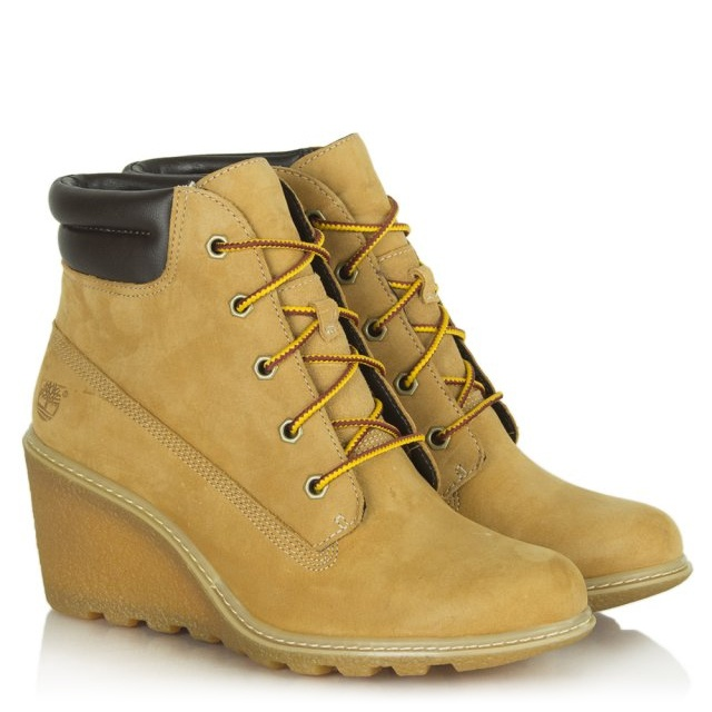 Timberland Amston Wedge Wheat Leather Ankle Boot