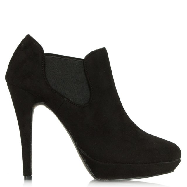 DF By Daniel Black Suede Brookland Platform Ankle Boot