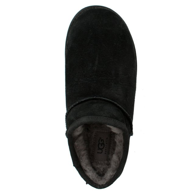 UGG Classic Black Suede Open Back Slipper