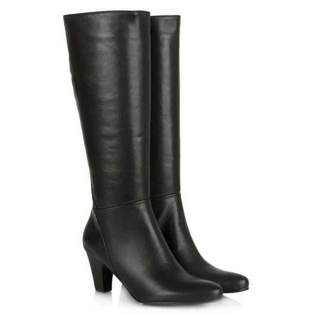 Lamica Acimal 62 Black Leather Knee High Boot