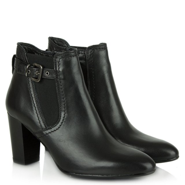 Lamica Acimal 110 Black Leather Ankle Boot