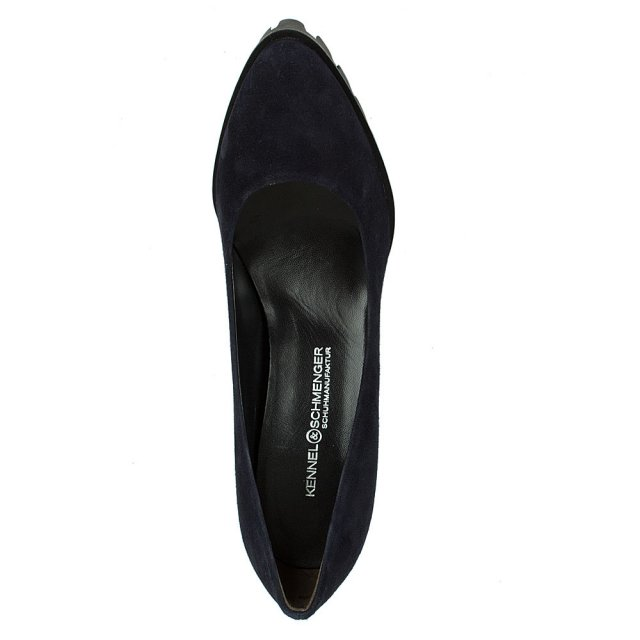 Kennel & Schmenger Arzac Navy Suede Cleated Sole Court Shoe