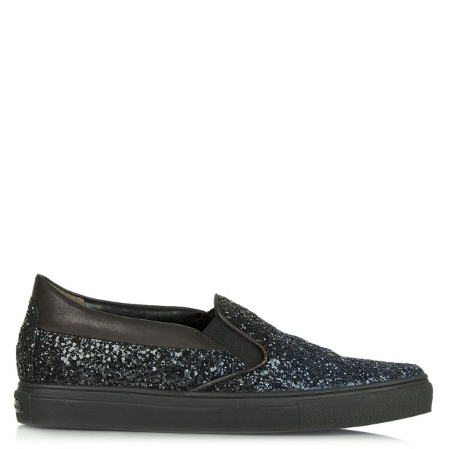 Kennel & Schmenger Pipe Navy Glitter Pointed Toe Loafer