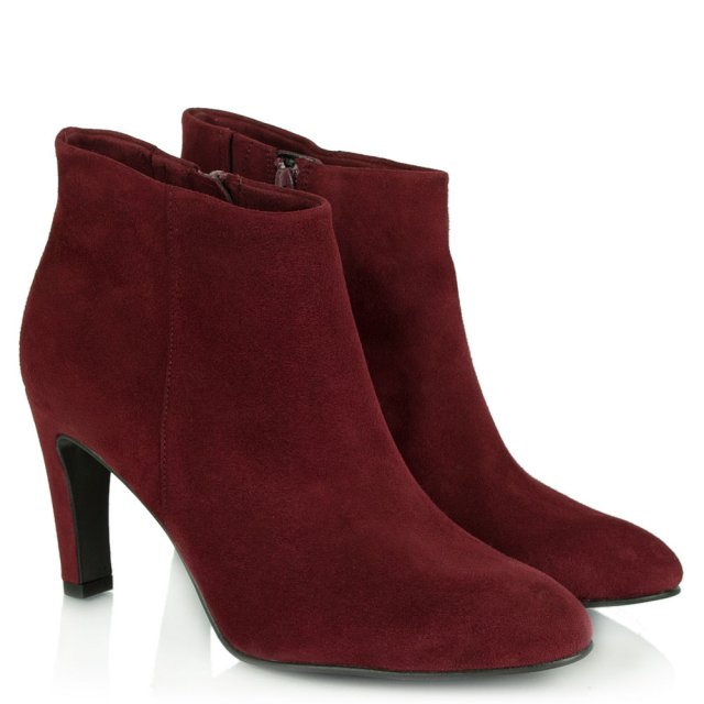 Kennel & Schmenger Canonbury Burgundy Women's Round Toe Ankle Boot