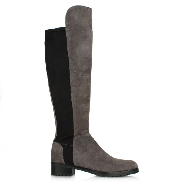 Kennel & Schmenger Zafferano Pewter Suede Elastic Back Riding Boot