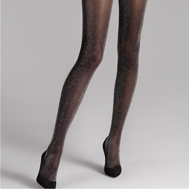 Wolford Stardust Black Shimmer Tights