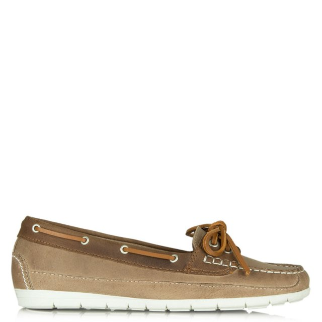 Daniel Westfield Taupe Leather Deck Shoe