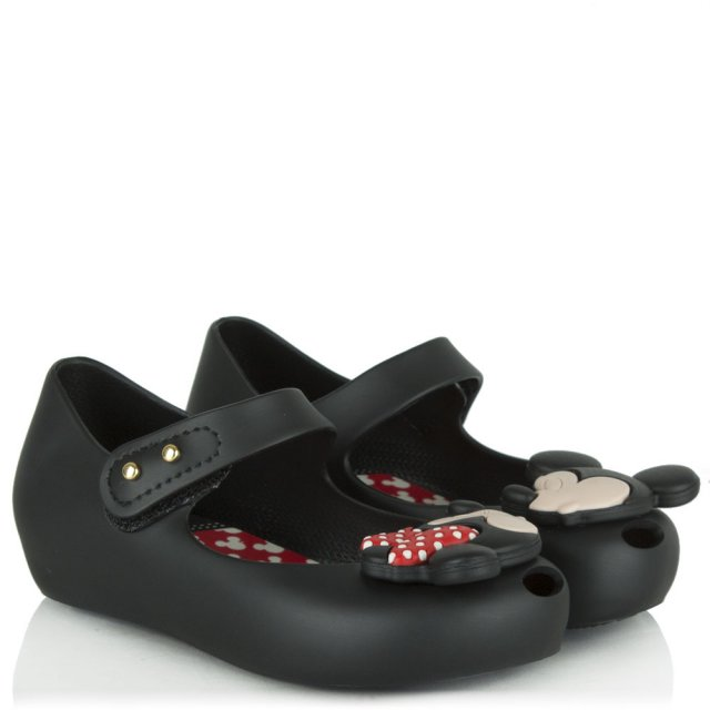 Melissa Kid's Minnie Mouse Black Mary Jane Shoe