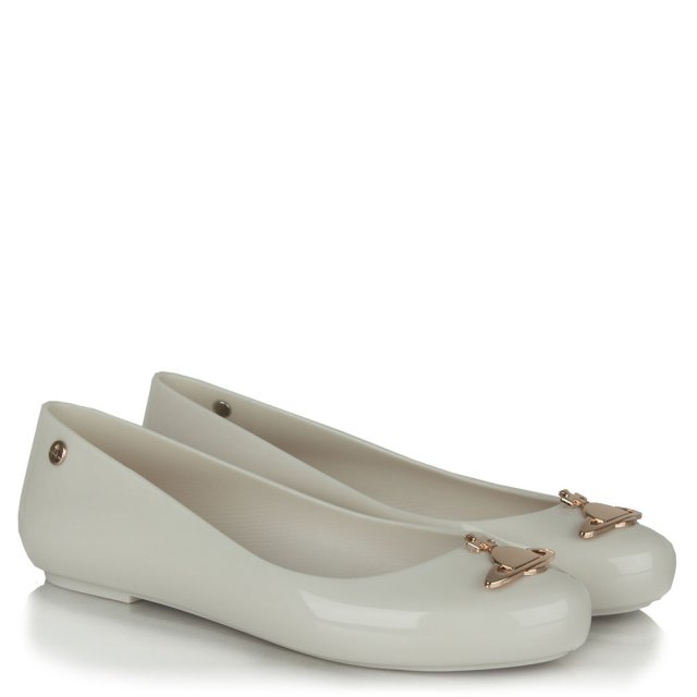 Vivienne Westwood Space Love White Rose Gold Orb Ballet Flat