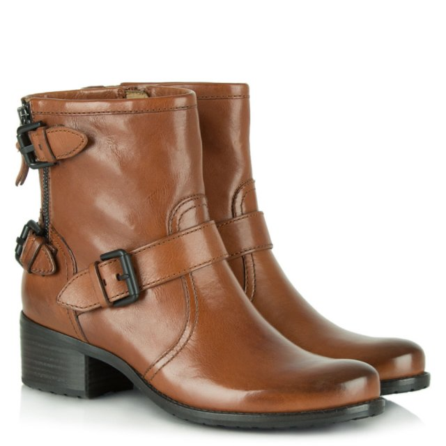 Kennel & Schmenger Vendome Tan Leather Buckle Ankle Boot