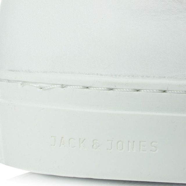 Jack & Jones Galaxy White Leather Lace Up Trainer