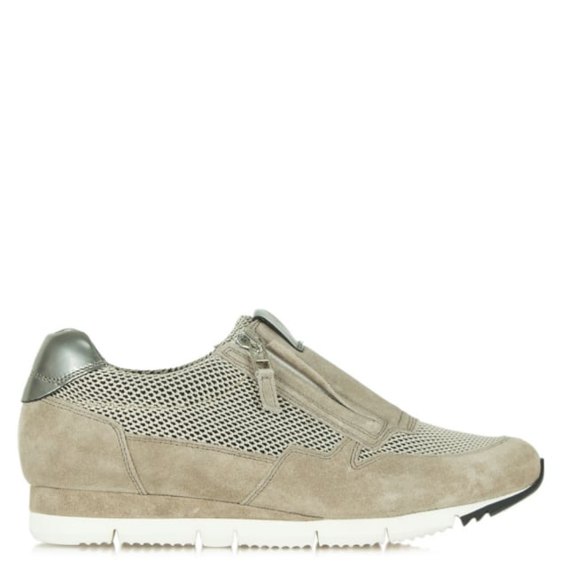 Kennel & Schmenger Redemption Taupe Suede Perforated Trainer