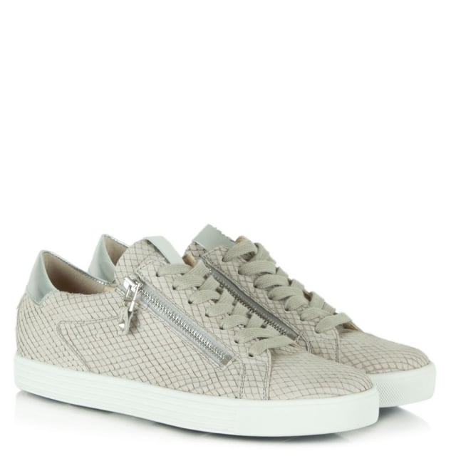 Kennel & Schmenger Towner Grey Suede Reptile Lace Up Trainer