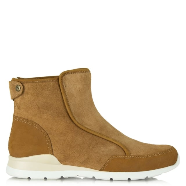 UGG Laurelle Tan Leather High Top Trainer