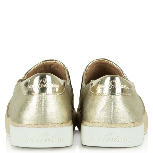 Sam Edelman Banks Gold Leather Sporty Espadrille Pump