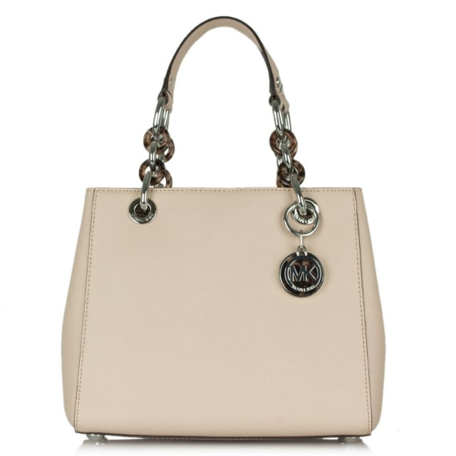 Michael Kors Cynthia Small Pink Leather Satchel Bag