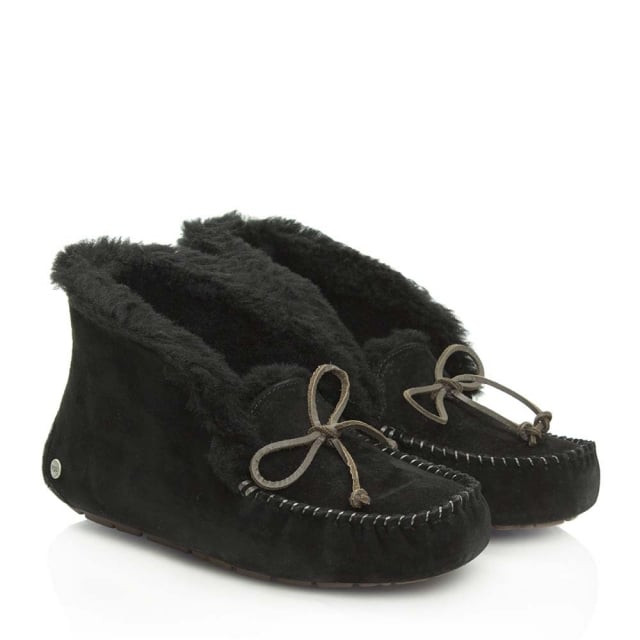 UGG Alena Black Suede Women's Slipper