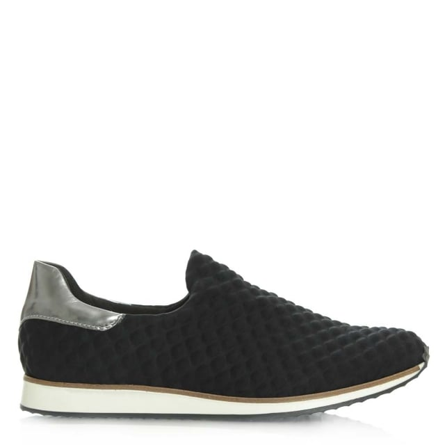 Daniel Bridgewater Black Slip On Fabric Sporty Shoe