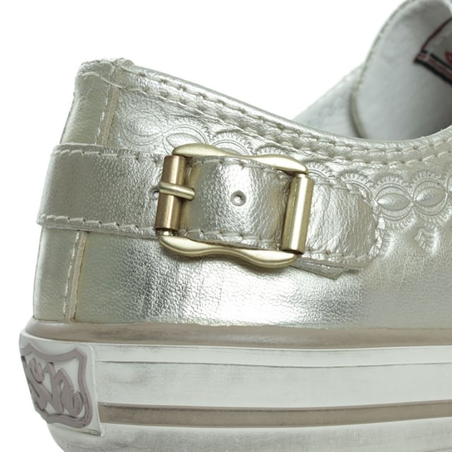 Ash Virgon Gold Metallic Womens Trainer