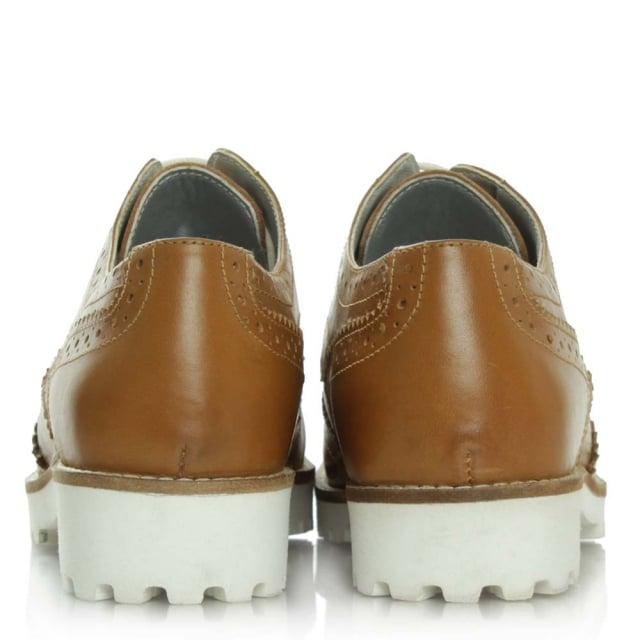 DF By Daniel Haxby Tan Leather White Sole Brogue