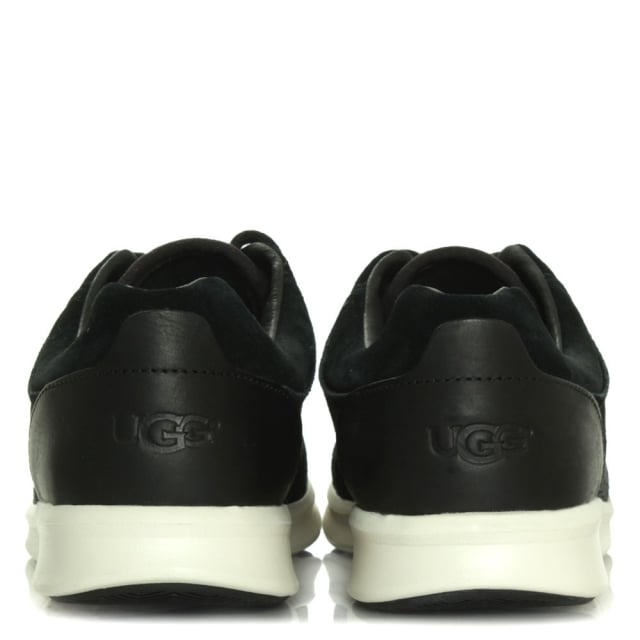 UGG Hepner Woven Black Leather Trainer