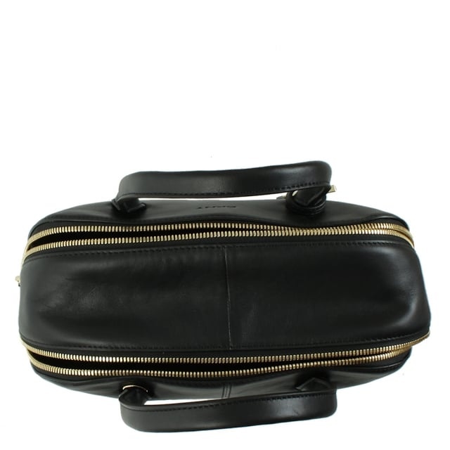 DKNY City Zip Large Black Leather Duffle