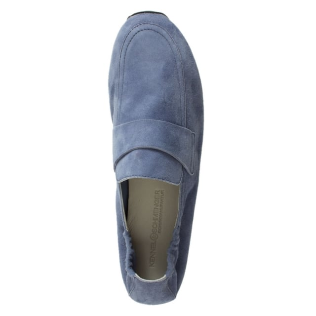 Kennel & Schmenger Song Navy Suede Metallic Loafer