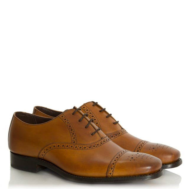 Barker Flynn Tan Leather Lace Up Brogue