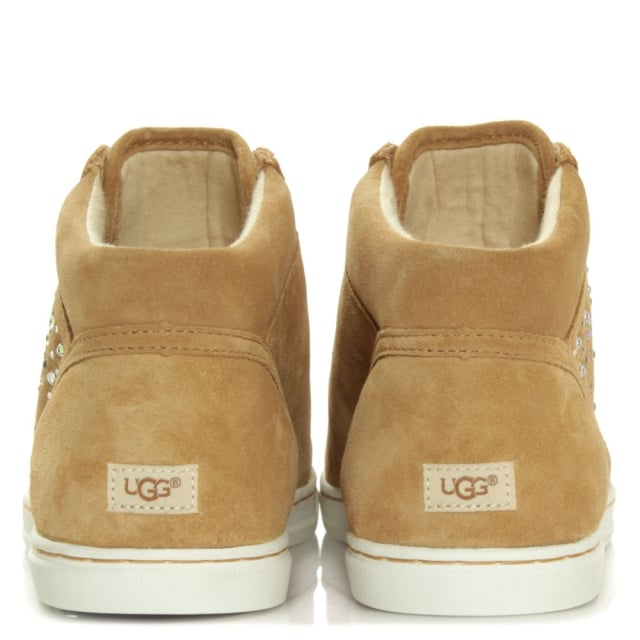 UGG Taylah Crystals Taupe Lace Up High Top