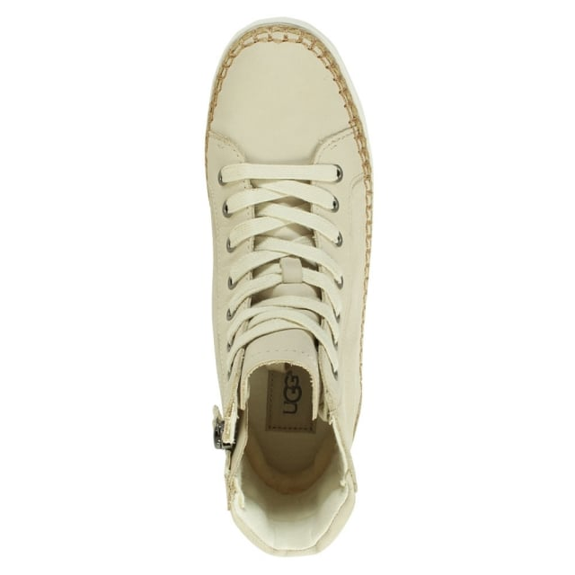 UGG Gradie White Nubuck Lace Up High Top Trainer