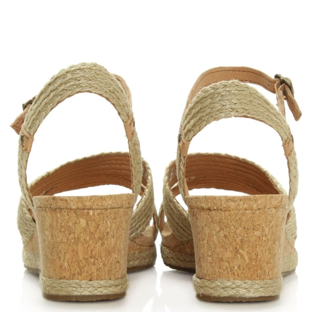 UGG Luann Taupe Jute Wrapped Cork Wedge