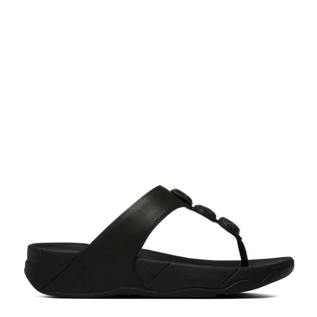 FitFlop Petra Sugar Leather Toe Post Flip Flop