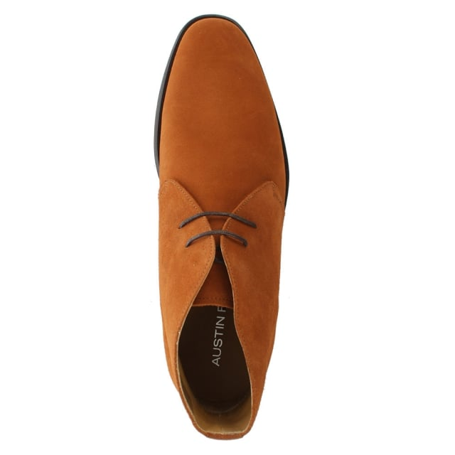 Hallas Tan Suede Desert Boot