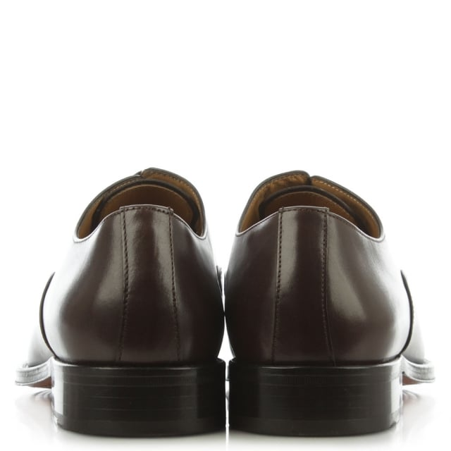 Lilley Brown Leather Toe Cap Oxford