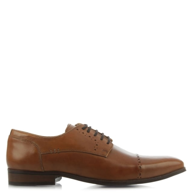 Daniel Polzeath Tan Leather Hole Punch Lace Up