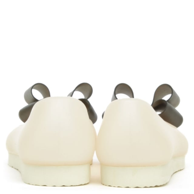 DF By Daniel Lumby Nude Contrast Bow Jelly Pump