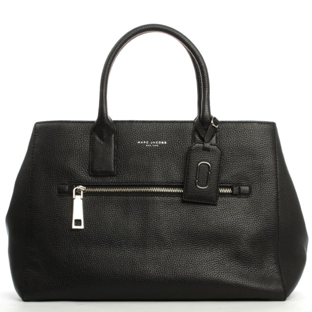 Marc Jacobs Gotham City North South Black Leather Tote Bag