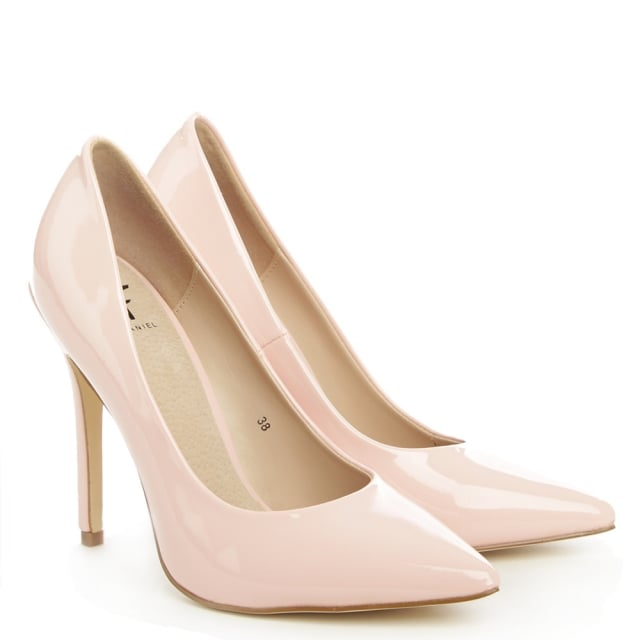 DF By Daniel Duffield Pink Patent High Pointy Court Shoe